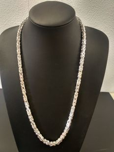 Silver king's necklace 925 silver - 65.5 cm - 130 g