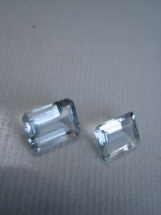 2 Aquamarine - 2.47 ct total