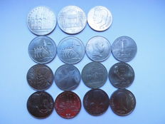 Russia/USSR - 15 x 1, 3, 5 Roubles Commemorative Coins