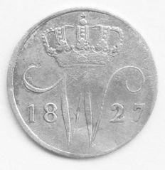 The Netherlands – 5 cents 1827B, Willem I – silver