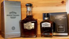 2 bottles - Jack Daniels Silver Select Single Barrel, 70cl (2012) 50%vol & Gentleman Jack with Tumbler, 200ml 40%vol. (2017 Limited Edition)
