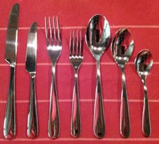 Alessi cutlery and dessert cutlery for 6 people, design Ettore Sottsass