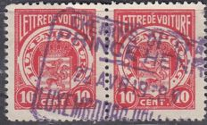 Luxembourg 1920s - batch of 'Lettre de Voiture' stamps with specialised cancellations Chemins de fer Prince Henri and others