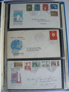 The Netherlands 1952/1970 – Collection FDCs in album