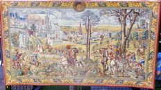 Machine woven tapestry after a 16th century example, woven by Old Brussels, Belgian second half 20th century