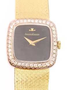 Jaeger LeCoultre Ref. 17164-0064 -- gold ladies watch with 40 diamonds - year 1970