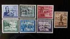 German Empire: Bohemia and Moravia 1945 - Local Franzensbad stamps, non-postal issue