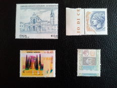 Republic of Italy – Lot of 4 varieties from 2002 to 2007