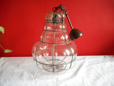 Large glass Venetian pendant lamp.