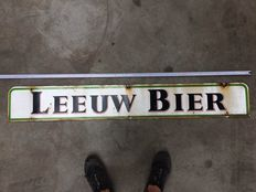 Enamel Leeuw Bier advertising sign - metal, enamel 40-50 years old