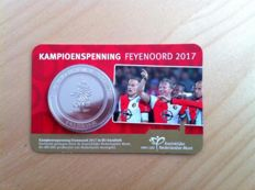 The Netherlands - Medals 'Feyenoord Champion 2017' (2 pieces) in coin cards.