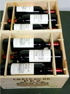 2014 Chateau de Pez, Saint-Estephe - 2 x 6 bottles in wooden case - 12 bottles (75cl) total