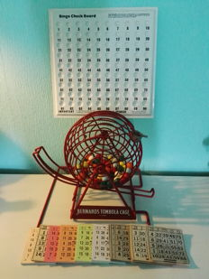 Bingo Machine - Bernards Tombola Cage - Original! - Complete!