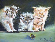 Miquel Brunet (20th century) - Tres Gatos
