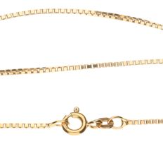 Yellow gold Venetian link necklace of 14 kt – Length: 42 cm