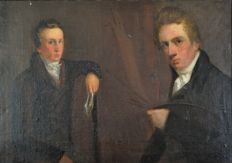 Manner of John Constable (1776-1837) - The artist and Adam Constable.