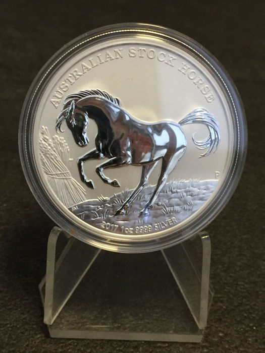 Australian – 1 dollar 2017 'Stockhorse' with certificate – 1 oz silver