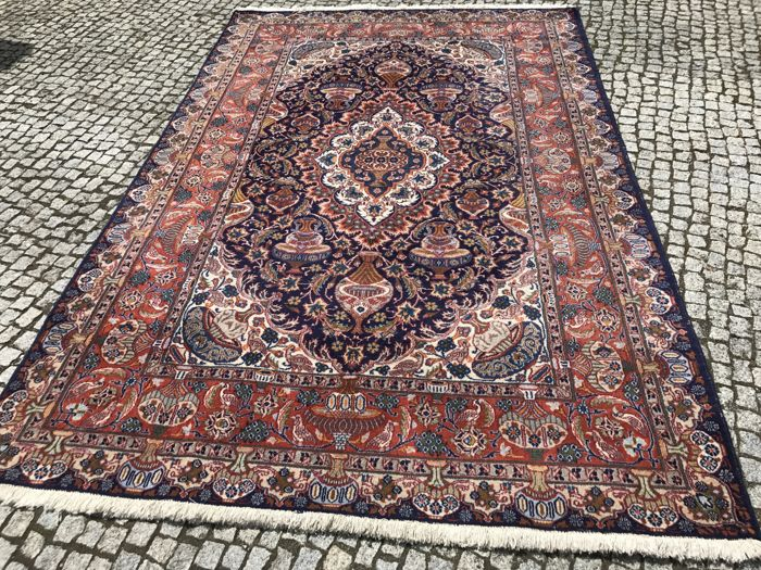 Old Hand knotted Persian Kashmar Figural 310x200 cm with certifikate