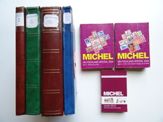 Germany - Collection in four stock books plus three Michel catalogues