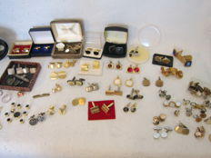 Collectie van 35 sets manchet knoppen