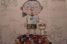 Takashi Murakami - Pom & Me On the Red Mound of the Dead