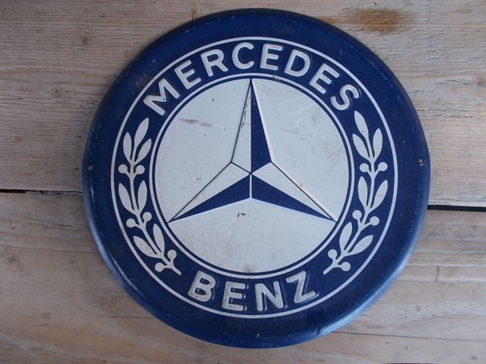 Mercedes advertising sign in good condition 1970s catawiki for Mercedes benz sign for sale