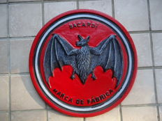 Promotional plate for Bacardi