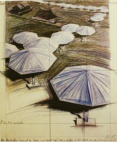 Christo – The Umbrellas (project for Japan and USA)