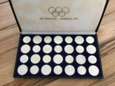Canada: Complete set of Olympics Montreal 1976, 14 x 5 Dollar and 14 x 10 Dollar