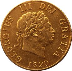 United Kingdom - ½ Sovereign 1820 George III - gold