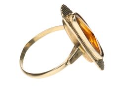 Ring – Yellow gold – Inner size: 15.5 mm