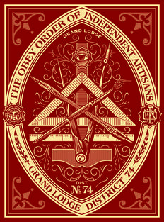 Shepard Fairey (OBEY) - Order of independent artisans (rouge)