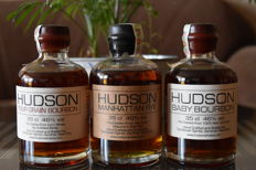 3 bottles - Hudson Baby, Hudson Four Grain & Hudson Manhattan Rye Bourbon - 3x 35cl