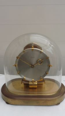 Brass bell jar clock - KUNDO - 2md half 20th century - made in Germany