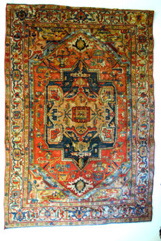 Rare Antique Arraiolos Carpet, Portuguese embroidered carpet, around 1850.