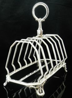 Large Silver Toast Rack, Birmingham 1881, John Gilbert & Co