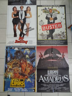 Big Lot of orginal cinema advertisement posters  from 70s to 90s - 10 pieces