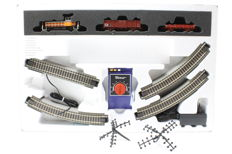 Roco H0 - 51156 - Analogue starter set with diesel locomotive Y8400 and freight wagons of the SNCF