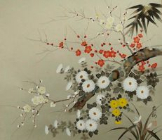Summer flowers - Rinpa school - Japan - late 20th century