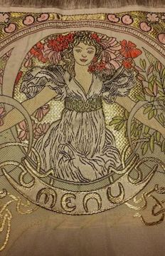 Alphonse Mucha - original silk menu