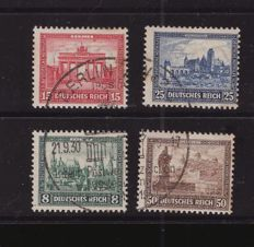German Reich 1930 - postal stamps from IPOSTA block - Michel 446/449