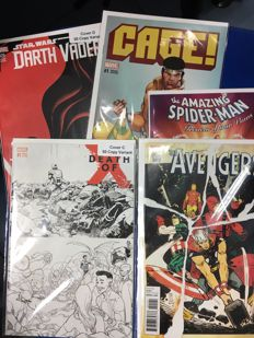 Amazing Collection Of Marvel Comics Variant Covers - Including Darth Vader - Cage - Spider-man - Avengers - Death of X - x5 SC - (2015/2016)