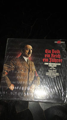 "Ein Volk ein Reich ein fuhrer ""eine historische collage"" record and 2 books new in original box"