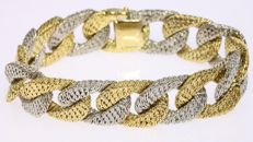 Bicoloured gold chain bracelet - 1975