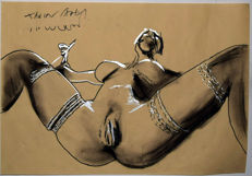 Original work; Janos Greka - Hot Drawings: OOAK - 1999
