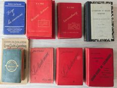 Lot of 16 travel guides on Belgique (Belgium), Ardennes and Luxembourg (Luxemburg) - 1879 / 1913
