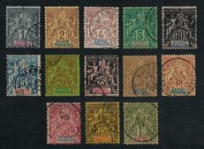 Guinea 1892 – Complete series, cancelled – Yvert No. 1/13