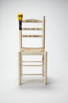 Pepa Bueno - Customized wood and wicker chair, 2017