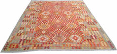 DOUBLE FACE NEW Afghan Oriental Hand Woven Veg Dyes Kelim Large Area Rug 345 cm x 245 cm