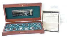 Antiquity - Box with 12 antique coins 'Religions of the ancient world'